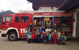 Feuerwehr im Montessori-Kindergarten Chiemgau