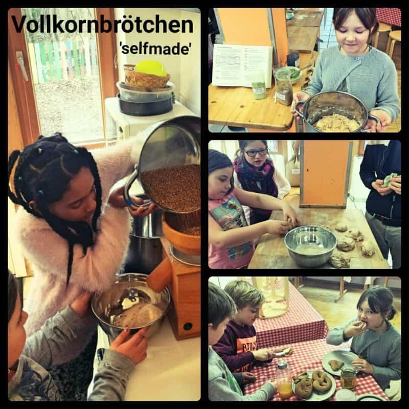 Backen mit Florian in der Montessori-Grundschule Chiemgau